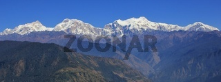 Snow capped Manaslu and other mountains