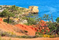Atlantic rocky coast view (Algarve, Portugal).