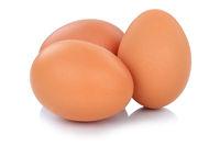 Braune Eier Freisteller freigestellt isoliert