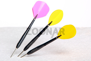 Image Of Three Isolated Darts Arrows On White Background