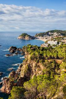 Costa Brava coastline of Mediterranean Sea (Balearic Sea)