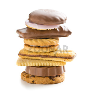 Various sweet biscuits.