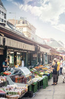 The popular Naschmarkt of Vienna