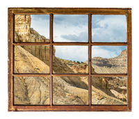 cliff, buttes and mesa of Book Cliffs window view