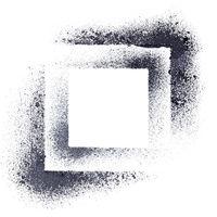Black stenciled squares