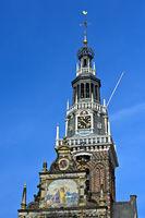 Tower of the Weighing Building, Waaggebäude, Waaggebouw, Alkmaar, Netherlands