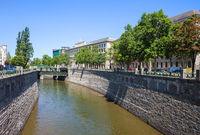 River Wien in City of Vienna