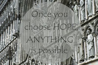 Church Of Trondheim, Quote Choose Hope Anything Is Possible
