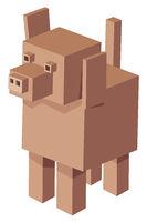 cubical dog cartoon character