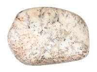pebble of Albite stone isolated on white