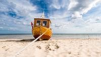 Fishing boat on the Baltic Sea beach