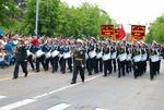 Navy musicians at russian parade May 9, 2010 in Sevastopol