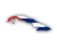 Karte und Fahne von Kuba - Map and flag of Cuba