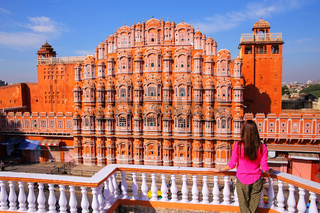 Hawa Mahal - Palace of the Winds in Jaipur, Rajasthan, India.