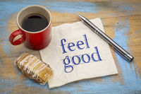 feel good note on napkin