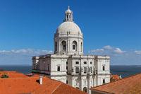 National Pantheon (the Church of Santa Engracia) in Lisbon, Portugal.