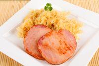smoked pork chop with sauerkraut