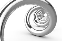 shiny chrome spiral