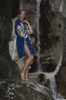Shooting at waterfall