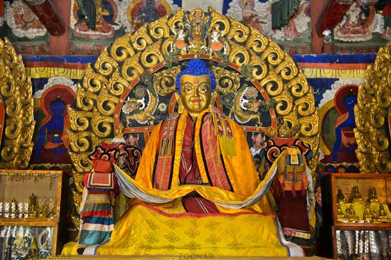 Shakyamuni Buddha statue at the Western Dzuu Temple,  Erdene Zuu monastery, Kharkhorin, Mongolia