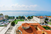 View of Zadar old town with sea