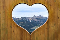 Heart view into the Tannheimer valley