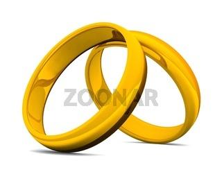 Zwei goldene Eheringe 02