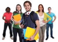 Studenten Gruppe junge jung lachen Leute Menschen People Jugendliche Freisteller