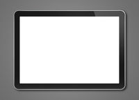Digital tablet pc, smartphone template isolated on dark grey