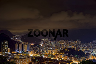 Night view of Rio de Janeiro city