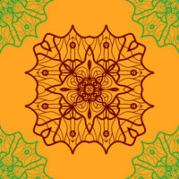 Yoga Ornament, kaleidoscopic seamless Indian Art Print. Ornament lace. Oriental vector pattern. Islamic,Arabic, Indian, Turkish, Pakistan, Chinese, Asian, Moroccan, Ottoman motifs. Mandala outlined