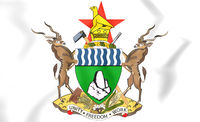 Zimbabwe Coat of Arms. 3D Illustration.