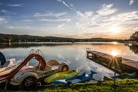 bath lake in Rauchwart / southern burgenland