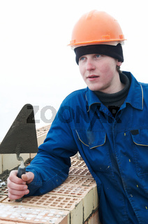 Brick layer worker builder mason