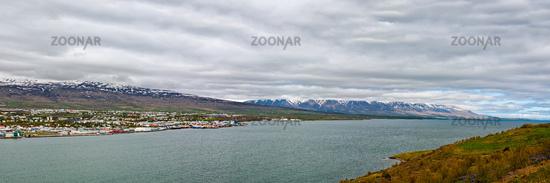 Panoramic view of Akureyri, Iceland