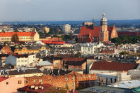 City of Krakow cityscape in Poland