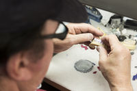 Dental Technician Working On 3D Printed Mold For Tooth Implants