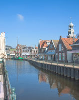 Village of Lemmer at Ijsselmeer in Frisia,Netherlands,Benelux