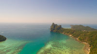 Aerial drone photo of nothern east part of iconic tropical Phi Phi island