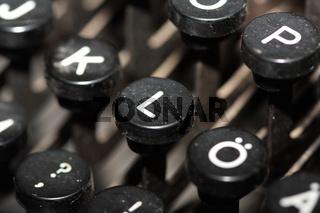 Alte Schreibmaschinen Tasten Details