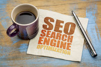 SEO search engine optimization word abstract
