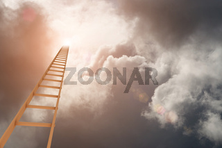 Ladder to the break in the clouds
