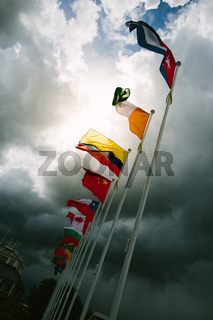 Dynamic world flags