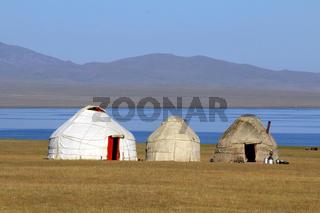 Jurtenlager am Songköl-See (Son Kul, Song Kol), Kirgisistan