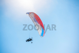 Paragliding in mountains