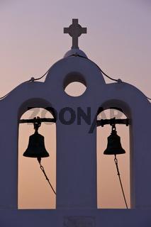 bell tower on Santorini
