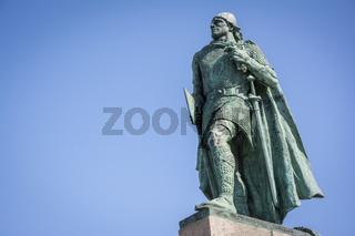 Leif Erikson statue in Reykjavik, Iceland