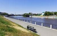 Russia, Siberia,Omsk-city, Om River quau