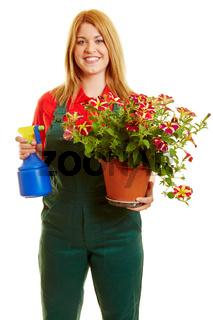 Frau als Florist oder Gärtnerin