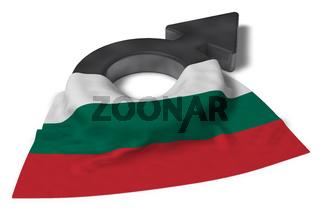 symbol für männlich und flagge von bulgarien - 3d illustration